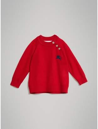 Burberry Contrast Motif Cashmere Sweater