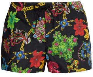 Versace Gioelleria Jetes Print Swim Shorts - Mens - Black Multi