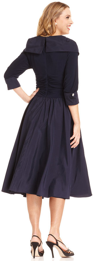 Jessica Howard Portrait Collar A Line Dress Shopstyle Women