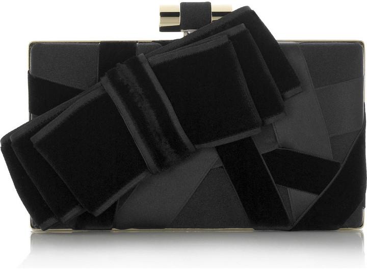 Yves Saint Laurent Satin ribbon clutch