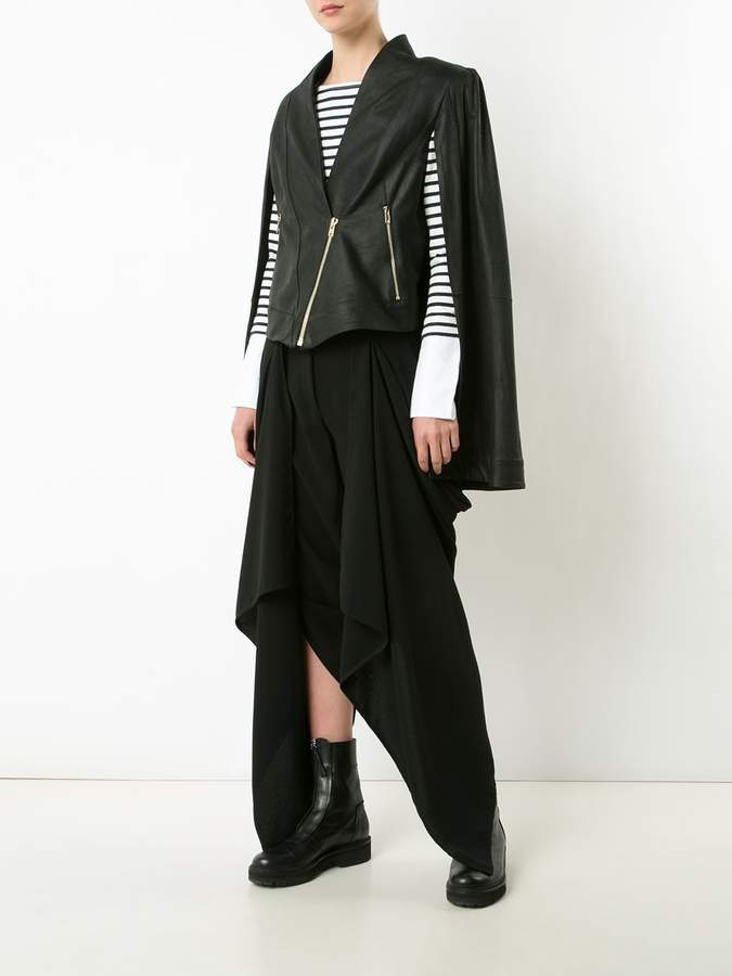 Gareth Pugh draped wrap cropped trousers