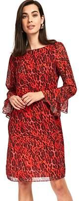 Wallis Red Animal Print Shift Dress