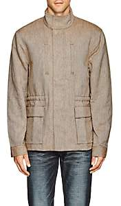 James Perse MEN'S COTTON-LINEN UTILITY JACKET-BEIGE, TAN SIZE 2