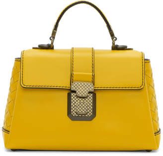 Bottega Veneta Yellow Small Intrecciato Piazza Bag