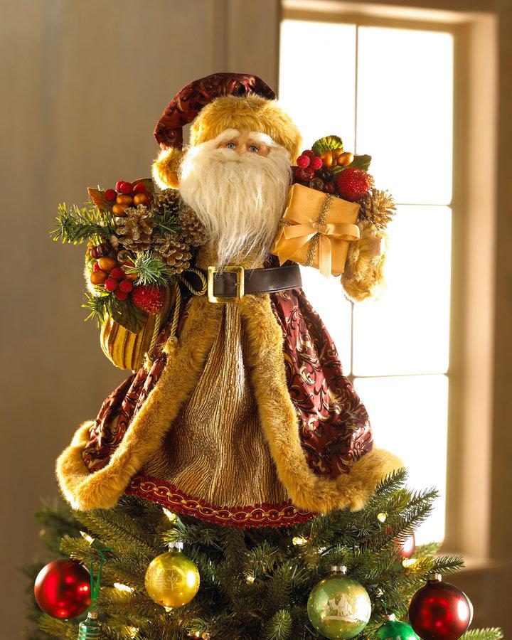 Horchow Tree Topper Santa