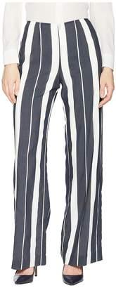 Tahari ASL Wide Leg Striped Pants Women's Casual Pants
