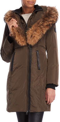 Ookpik Contessa Real Fur-Trimmed Coat