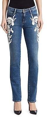 Roberto Cavalli Women's Skinny Embroidered Jeans