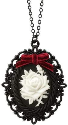POPORCELAIN - Dark Romance Porcelain Rose Cameo Necklace