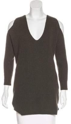 Michelle Mason Wool-Blend Cold-Shoulder Sweater