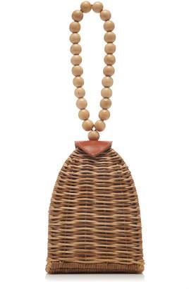 Ulla Johnson Raya Trapeze Small Wicker Bag