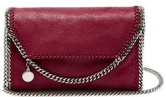 Stella McCartney Falabella Faux Leather Mini Cross Body Bag - Womens - Burgundy