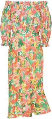 Saloni Grace Off Shoulder Ruffle Dress