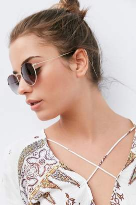 Urban Outfitters Madeline Metal Round Sunglasses $16 thestylecure.com