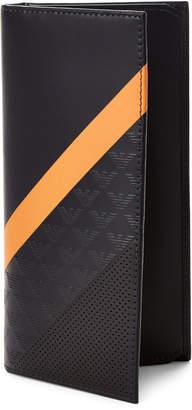 Emporio Armani Black & Orange Stripe Leather Pocket Wallet