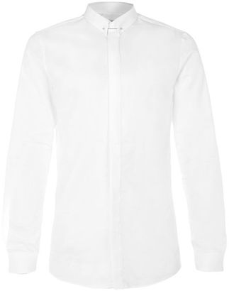 Premium White Pin Collar Dress Shirt $70 thestylecure.com