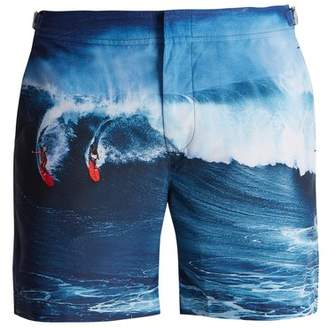 Orlebar Brown Bulldog Photographic Print Swim Shorts - Mens - Navy