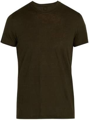 120% Lino 120 LINO Crew neck linen jersey T-shirt