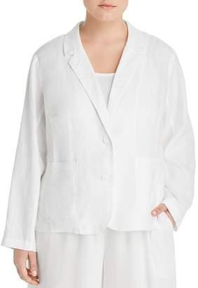 Eileen Fisher Plus Organic Linen Blazer