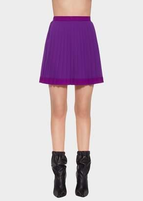 Versace Pleated Mini Skirt