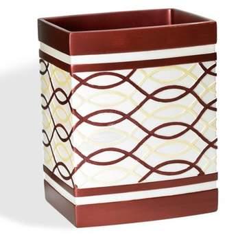 Popular Bath Harmony Burgundy Waste Basket