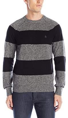 Original Penguin Men's Wide Stripe Crew Neck Sweater