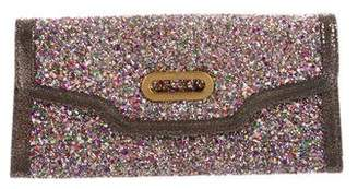 Jimmy Choo Glitter Flap Clutch