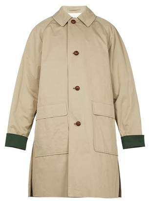 Burberry Unisex Raglan Sleeved Patch Pocket Cotton Coat - Mens - Khaki