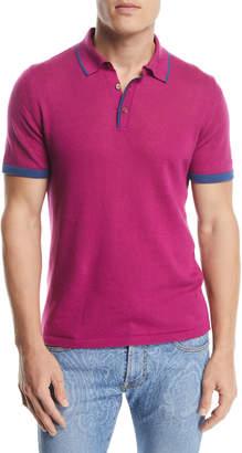 Etro Contrast Knit Polo Shirt