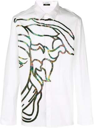 Versace iridescent print shirt