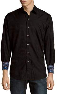 Textured Casual Button-Down Shirt $188 thestylecure.com
