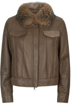 Brunello Cucinelli Fox Fur Collar Jacket