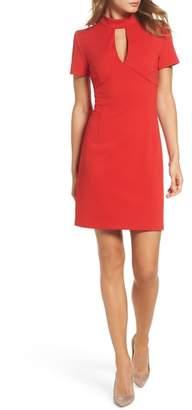 trina Trina Turk Camari Choker Collar Sheath Dress