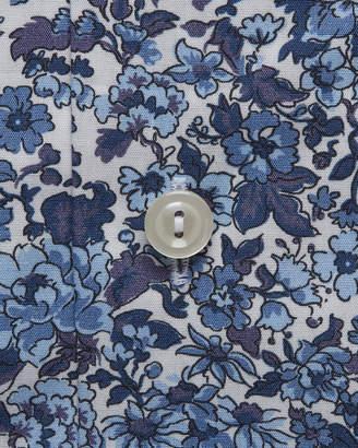 Men's Floral Cotton Dress Shirt