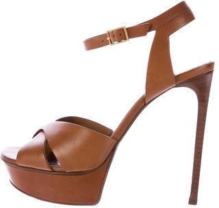 Saint LaurentSaint Laurent Leather Platform Sandals