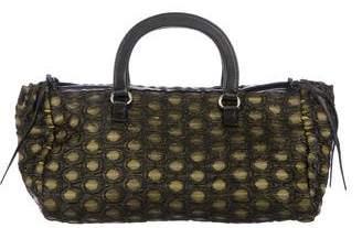 Prada Metallic Brocade Handle Bag