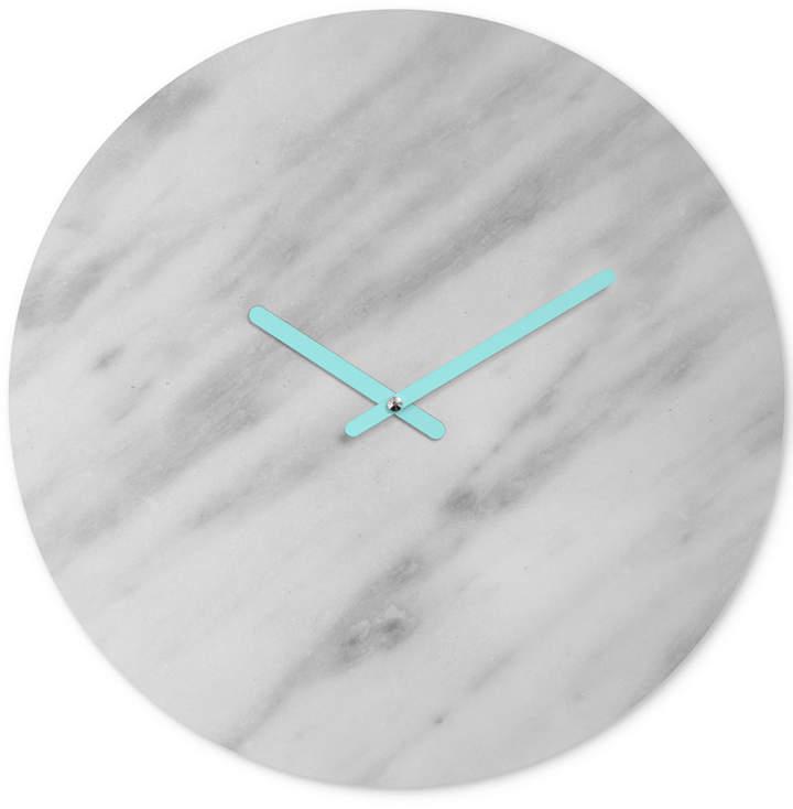 Emanuela Carratoni Italian Marble Carrara Round Clock