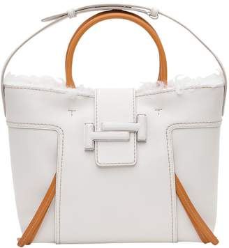 Tod's Medium Double T Shopping Bag With Fur Interior