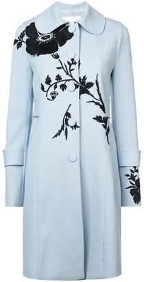 Carolina Herrera flower detail single-breasted coat