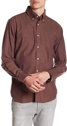 James Tattersall Solid Classic Fit Woven Shirt
