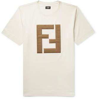 Fendi Logo-Appliquéd Cotton-Jersey T-Shirt