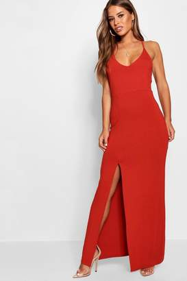 boohoo Petite Strappy Back Maxi Dress