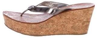 Tory Burch Metallic Thong Sandals