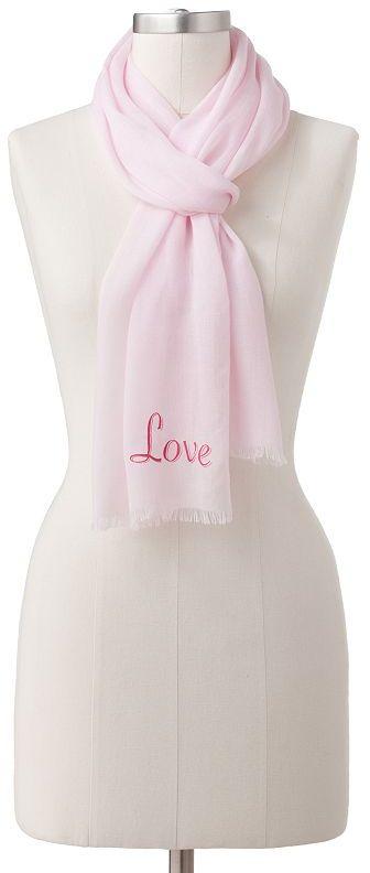 """JLO by Jennifer Lopez Kohl's cares love"""" scarf"""
