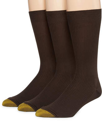 Gold Toe 3-pk. Dress Manhattan Non-Binding Crew Manhattan Socks
