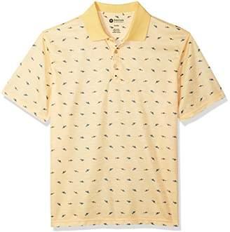 Haggar Men's Short Sleeve Printed Knit Polo