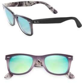 Ray-Ban 50MM Mirrored Wayfarer Sunglasses