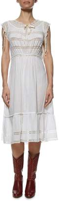 Vintage White Cotton Victorian Dress