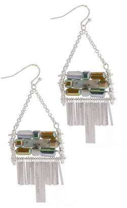 Saachi Alchemy Stone & Bead Detail Tassel Drop Earrings