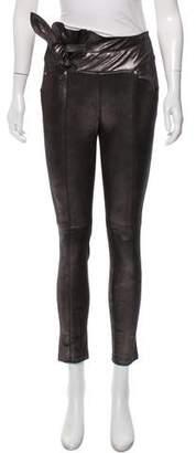 IRO Metallic Leather Skinny Pants